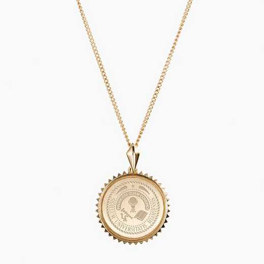 MUOHIO0116: Cavan Gold Miami of Ohio Sunburst Necklace by KYLE CAVAN